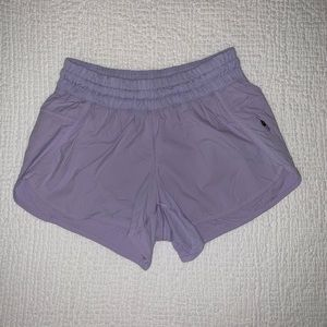 Purple lululemon shorts